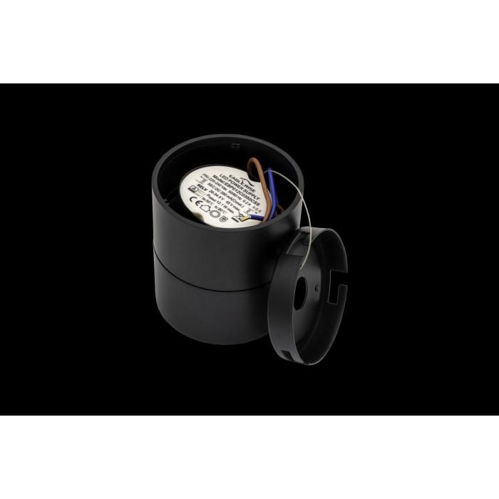 2Светильник светодиодный потолочный накладной поворотный, серия LK, Черный, 15Вт, IP20, Теплый белый (3000К)