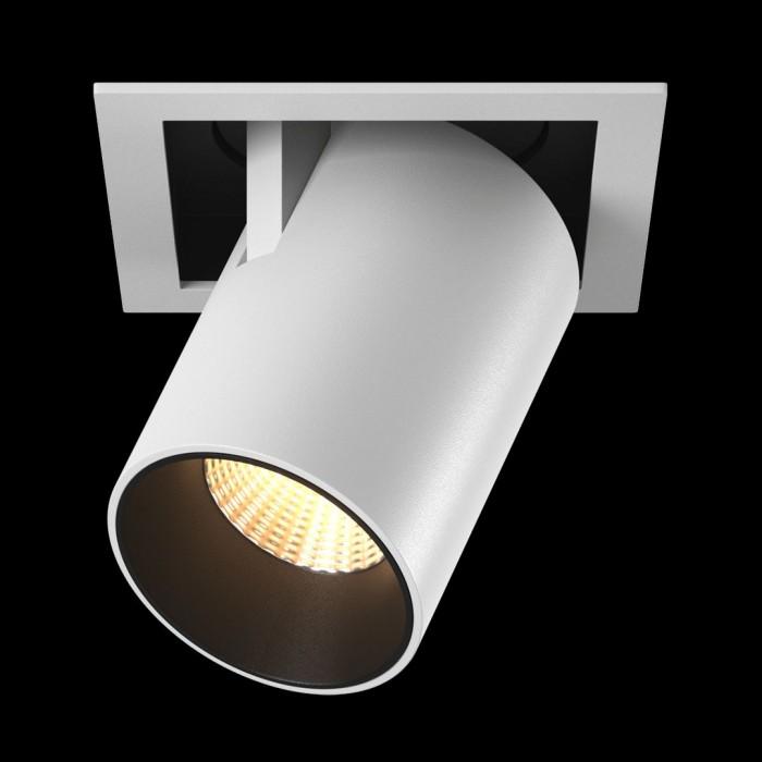 1Светильник светодиодный потолочный встраиваемый поворотно-выдвижной, серия SPL, матовый белый + черный, 12Вт, IP20, Теплый белый (3000К) стоимость