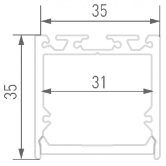 2Подвесной/накладной алюминиевый профиль LS.3535