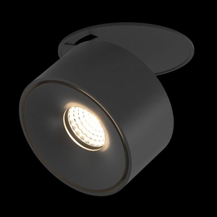 1Светильник светодиодный потолочный встраиваемый, серия GW, черный, 9Вт, IP20, Нейтральный белый (4000К)
