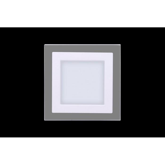 2Светильник светодиодный потолочный встраиваемый P, Белый, Сталь/Стекло, Нейтральный белый (4000-4500K), 6Вт, IP20
