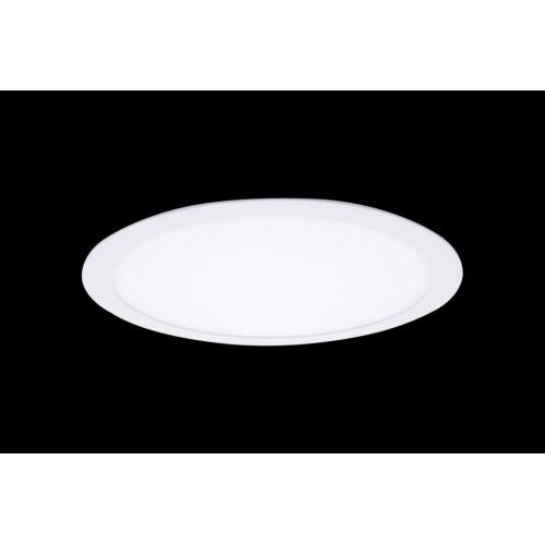Светильник светодиодный потолочный встраиваемый PL, Белый, Пластик + алюминий, Нейтральный белый (4000-4500K), 24Вт, IP20 PL-R300-24-NW
