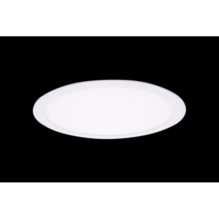 1Светильник светодиодный потолочный встраиваемый PL, Белый, Пластик + алюминий, Нейтральный белый (4000-4500K), 24Вт, IP20