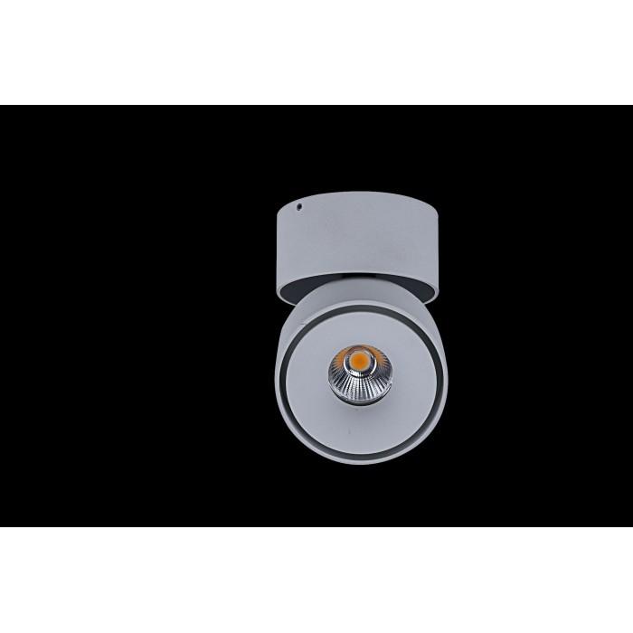 1Светильник светодиодный потолочный накладной поворотный, серия WL, белый, 12Вт, IP20, Теплый белый (3000К)