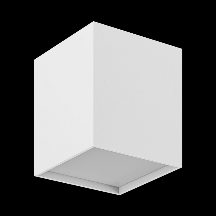 2Светильник светодиодный потолочный накладной, серия GW, белый, 10Вт, IP20, Теплый белый (3000К)