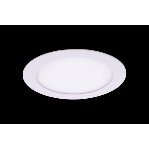 Светильник светодиодный потолочный встраиваемый PL, Белый, Пластик + алюминий, Теплый белый (2700-3000K), 12Вт, IP20