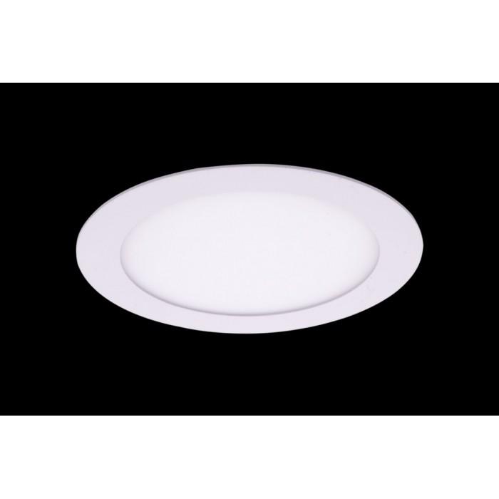 1Светильник светодиодный потолочный встраиваемый PL, Белый, Пластик + алюминий, Теплый белый (2700-3000K), 12Вт, IP20