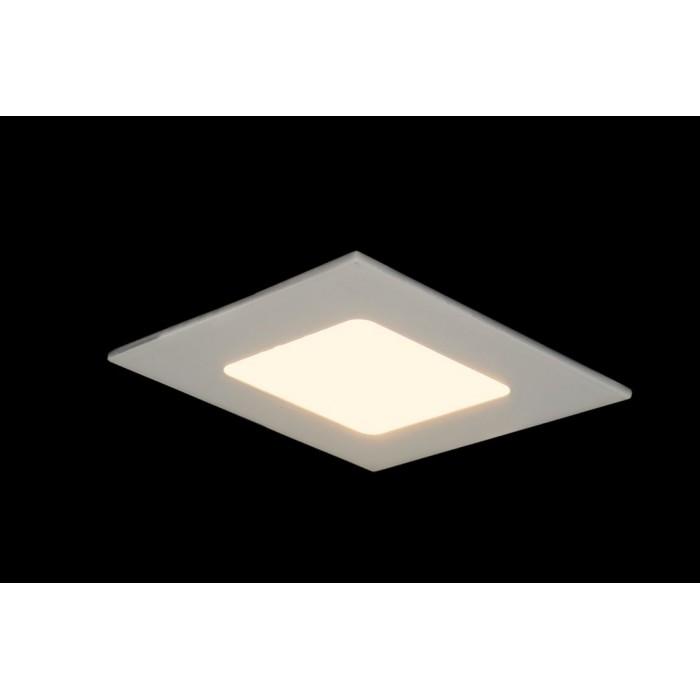 2Светильник светодиодный потолочный встраиваемый PL, Белый, Пластик + алюминий, Теплый белый (2700-3000K) цена Минск