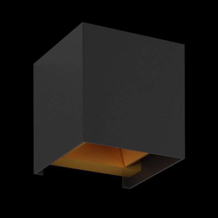 2Настенный светильник BIG-KUB, черный, 12Вт, 3000K, IP65, LWA803L-BL-WW