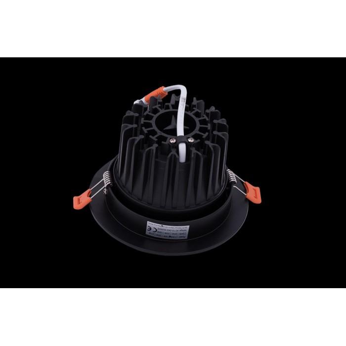 2Светильник светодиодный потолочный встраиваемый наклонный, серия DL-KZ, черный, 18Вт, IP20, Нейтральный белый (4000К)