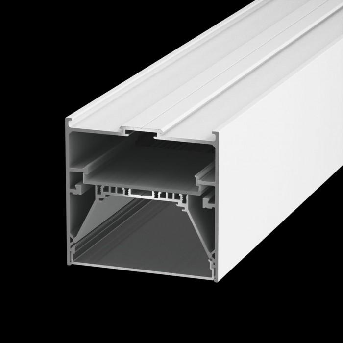 1Подвеснойвстраиваемый/накладной алюминиевый профиль L9086, белый