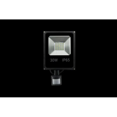 Прожектор светодиодный с датчиком движения 5630 3000К Теплый белыйK FL-SMD-30-WW-S
