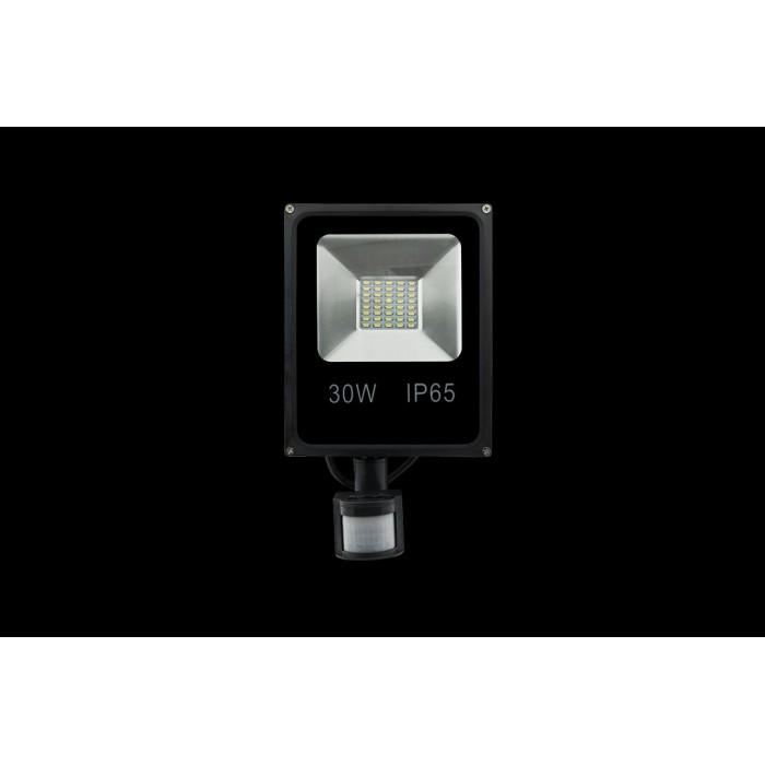1Прожектор светодиодный с датчиком движения 5630 3000К Теплый белыйK FL-SMD-30-WW-S