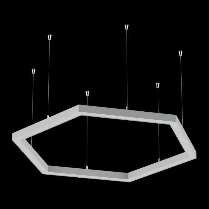 2Светильники из профиля Hex-Type-5050-04-63-WW: Профиль LS 5050, Лента 4x DSG 2835 WW 280L-V24-IP33, 700LED, 26W/m, LUX, подвесы. Без блока питания.
