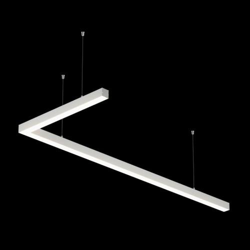 Светильники из профиля L-Type-5050-1807-65-WW: Профиль LS 5050, Лента 4x DSG 2835 WW 280L-V24-IP33, 700LED, 26W/m, LUX, подвесы. Без блока питания.