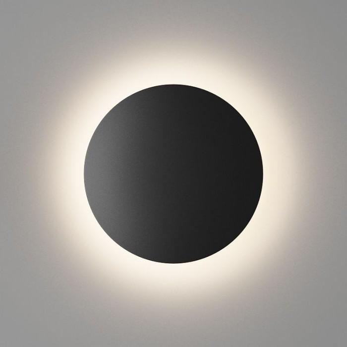 1Настенный светильник CIRCUS, матовый черный, 12Вт, 3000K, IP54, GW-8663S-12-BL-WW