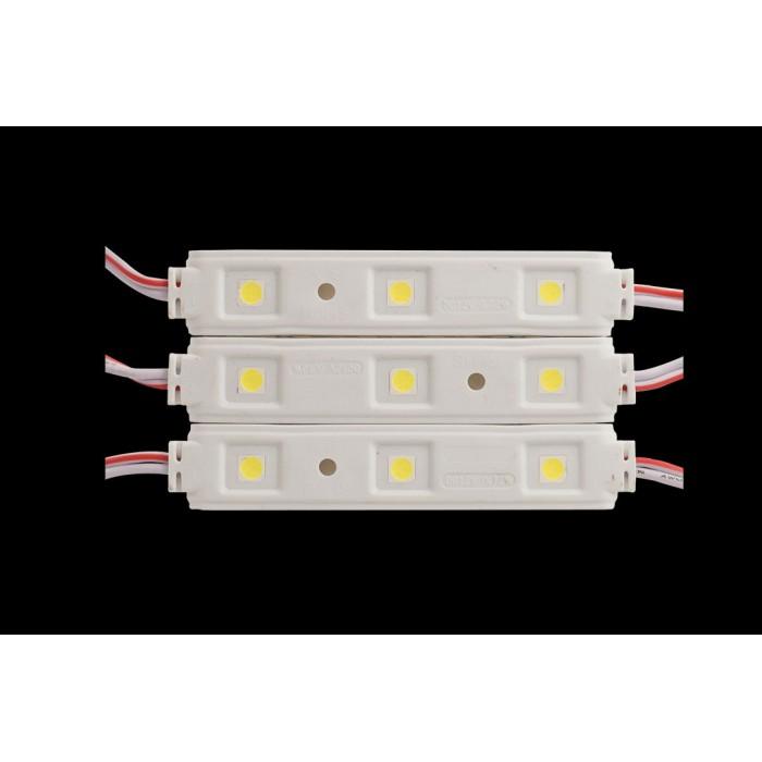 2Модуль светодиодый SWG, 3LED, 0,72Вт, 12В, IP65, Цвет: 6000-6500 К Холодный белый, провод 9см