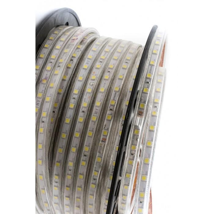 2Лента светодиодная 220, SMD5050, 60LED/м, кат 50м, 14,4 Вт/м, IP68, Холодный белый (6000-6500К Холодный белый)