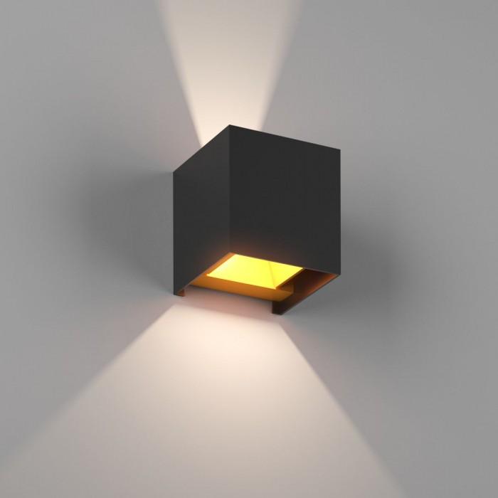 1Настенный светильник BIG-KUB, черный, 12Вт, 3000K, IP65, LWA803L-BL-WW