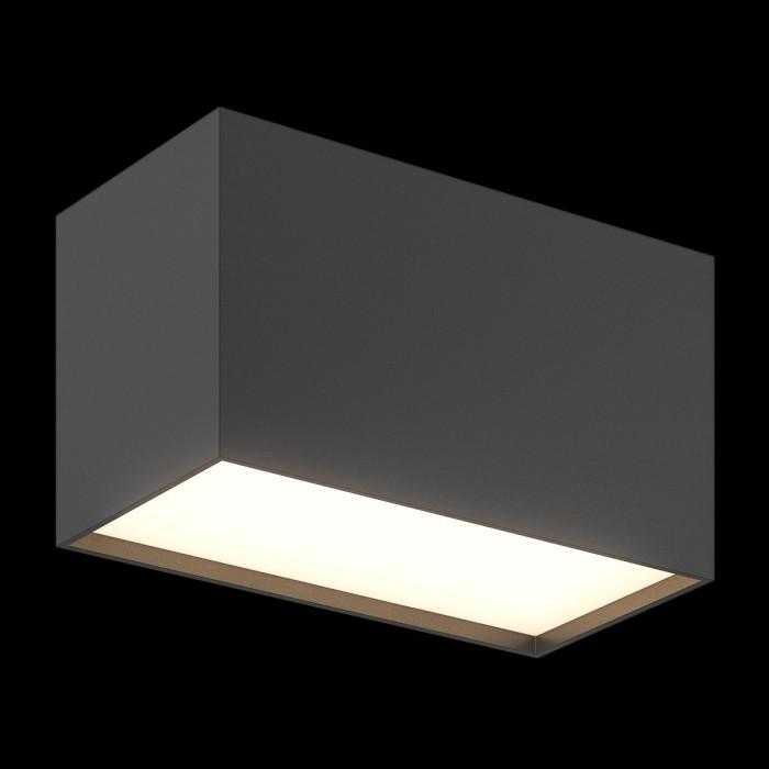 1Светильник светодиодный потолочный накладной, серия GW, черный, 20Вт, Теплый белый (3000К)