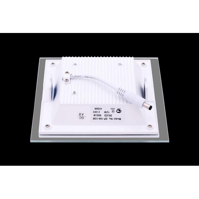 2Светильник светодиодный потолочный встраиваемый, Белый, Сталь/Стекло, Нейтральный белый (4000-4500K), IP20