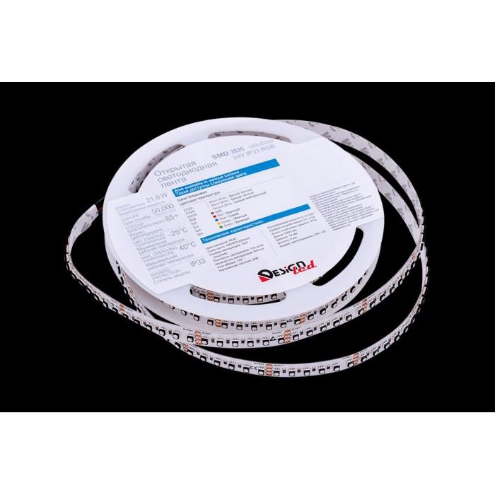 2Лента светодиодная LUX, 3535, 120 LED/м, 20 Вт/м, 24В, IP33, RGB (K)