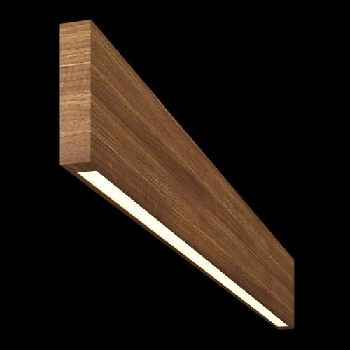 Светильник из массива (грецкий орех) длина 800мм высота не менее 140мм 3000К, 8Вт