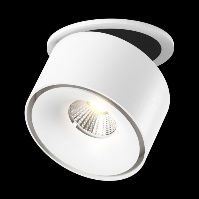 1Светильник светодиодный потолочный встраиваемый поворотный, серия WL, белый, 12Вт, IP20, Нейтральный белый (4000К)