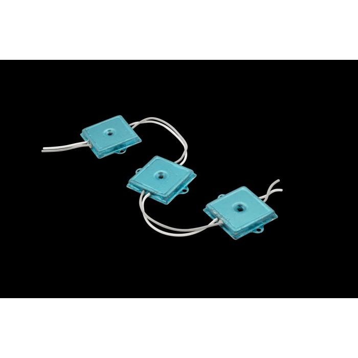 2Модуль LED Module 4PCS SMD5050,35*35MM W:55-65LM,DC12V,СИНИЙ металл