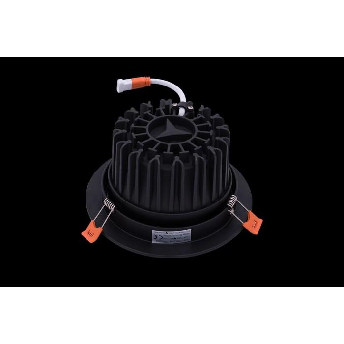 2Светильник светодиодный потолочный встраиваемый наклонный, серия DL-KZ, черный, 30Вт, IP20, Нейтральный белый (4000К)