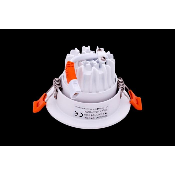 2Светильник светодиодный потолочный встраиваемый наклонный, серия DL-KZ, белый, 7Вт, IP20, Теплый белый (3000К)