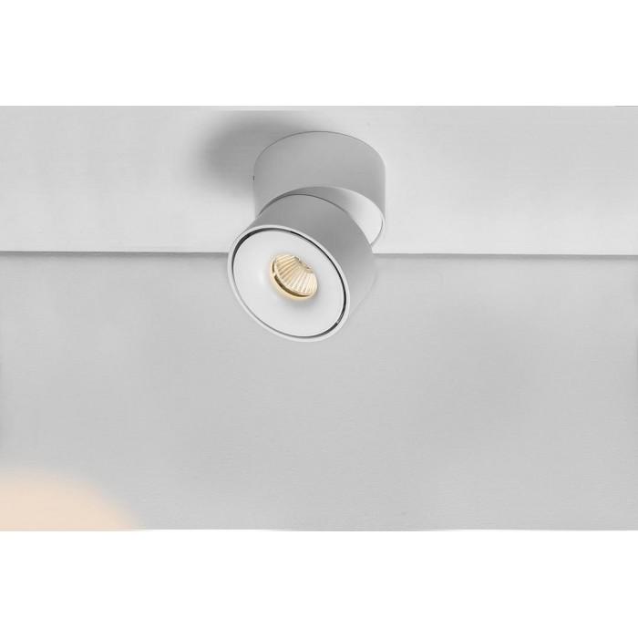 2Светильник светодиодный потолочный накладной поворотный, серия LD, матовый белый, 12Вт, IP20, Теплый белый (3000К)