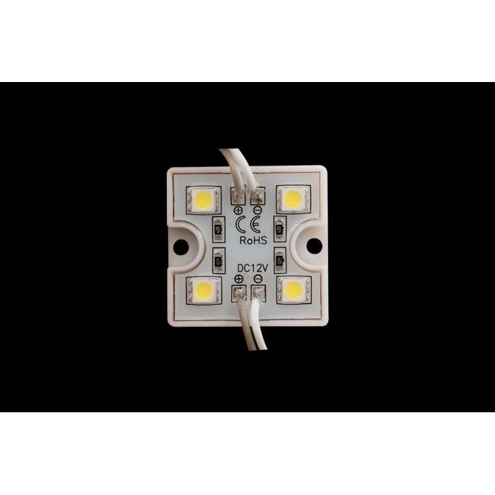 2Модуль светодиодый SWG, 4LED, 1,12Вт, 12В, Холодный белый, провод 7,5см