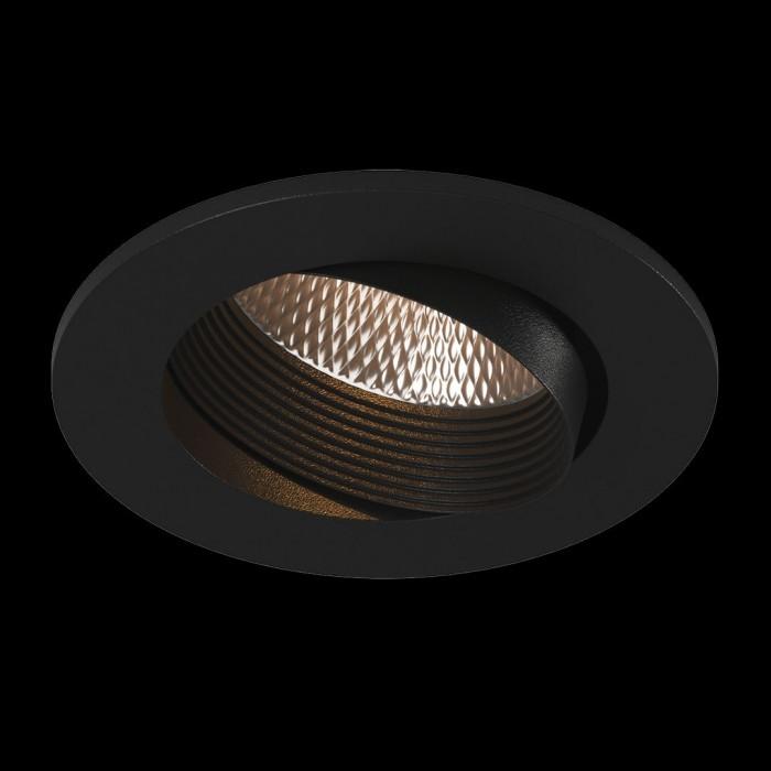 2Светильник светодиодный потолочный встраиваемый наклонный, серия DL-KZ, черный, 7Вт, IP20, Теплый белый (3000К)