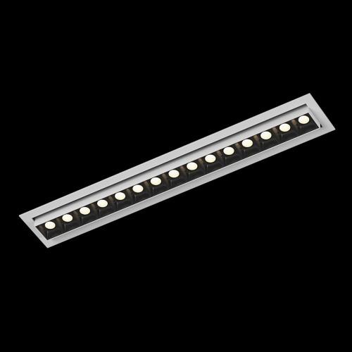 Светильник светодиодный диммируемый потолочный встраиваемый наклонный, серия DL-UM9, белый + черный, 18Вт, IP20, Теплый белый (3000К) DesignLed 002997
