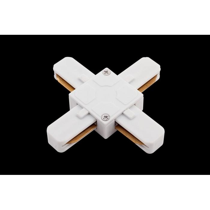 2x коннектор для однофазных трековыx систем, Белый