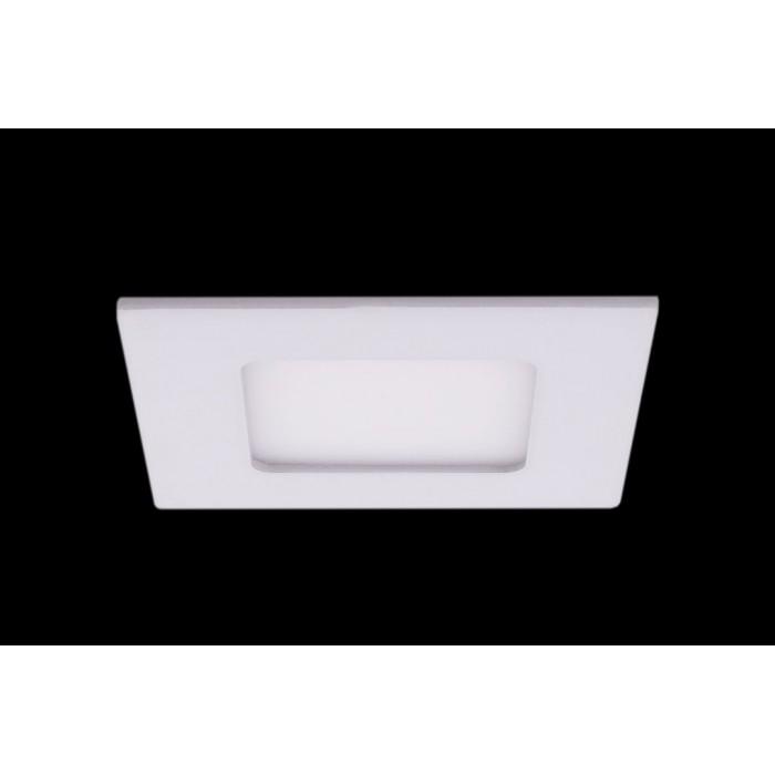 1Светильник светодиодный потолочный встраиваемый PL, Белый, Пластик + алюминий, Теплый белый (2700-3000K) цена Минск