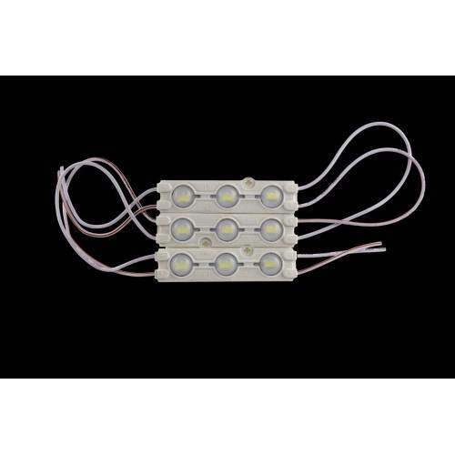 Модуль светодиодый линзованный SWG, 3LED, 1,2Вт, 12В, IP65, Цвет: 6500К Холодный белый, провод 15см
