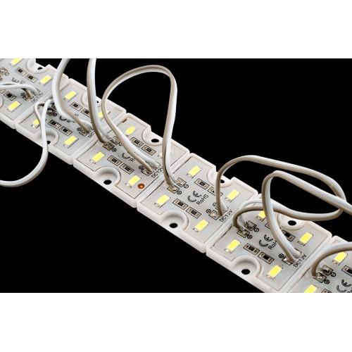 Модуль светодиодый SWG, 4LED, 1Вт, 12В, IP65, Цвет: 6000-6500 К Холодный белый, провод 9см