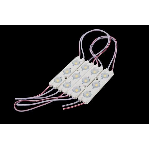 Модуль светодиодый линзованный SWG, 3LED, 1,08Вт, 12В, IP65, Цвет: 6000-6500 К Холодный белый, провод 9см