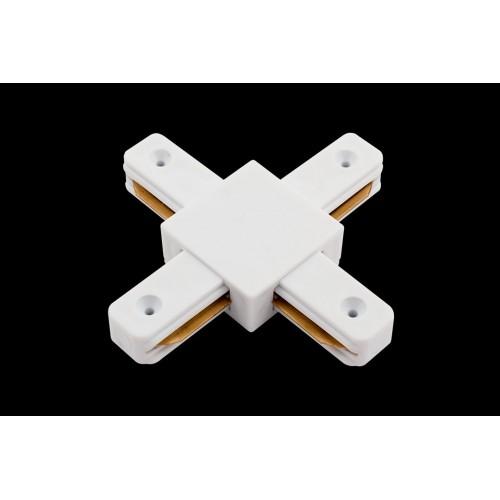 2031 x коннектор для однофазных трековыx систем, Белый KXZ-WH-X