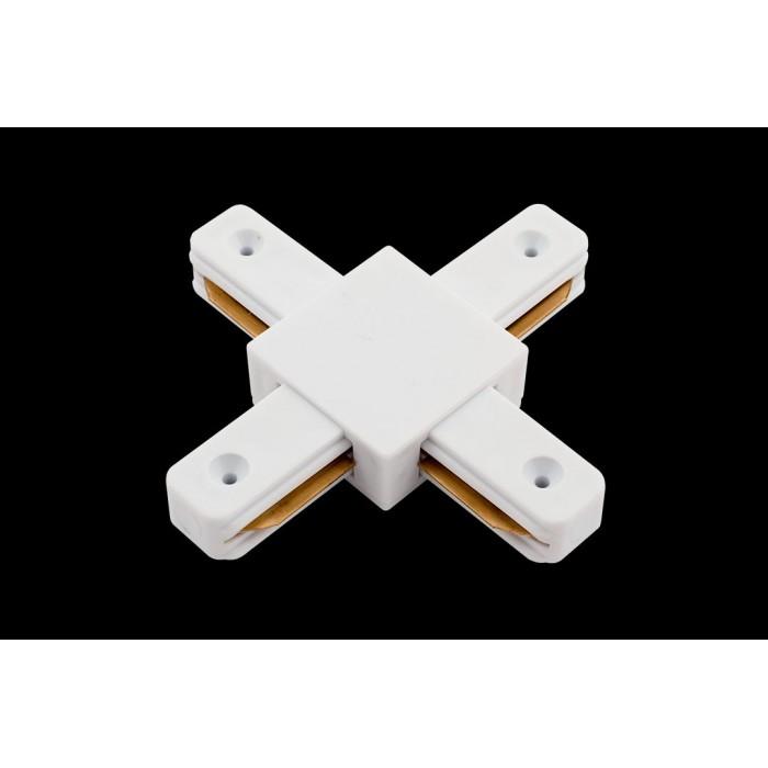 1x коннектор для однофазных трековыx систем, Белый