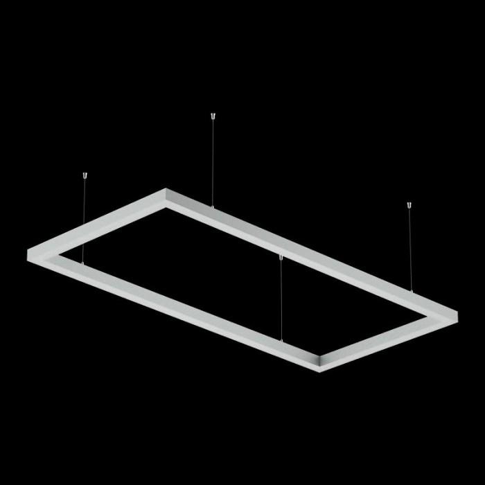 2Светильники из профиля O-Type-5050-1708-130-WW: Профиль LS 5050, Лента 4x DSG 2835 WW 280L-V24-IP33, 700LED, 26W/m, LUX, подвесы. Без блока питания.