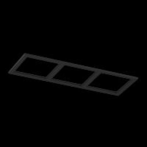 Рамка тройная для серии COMBO 3, квадратная, черная