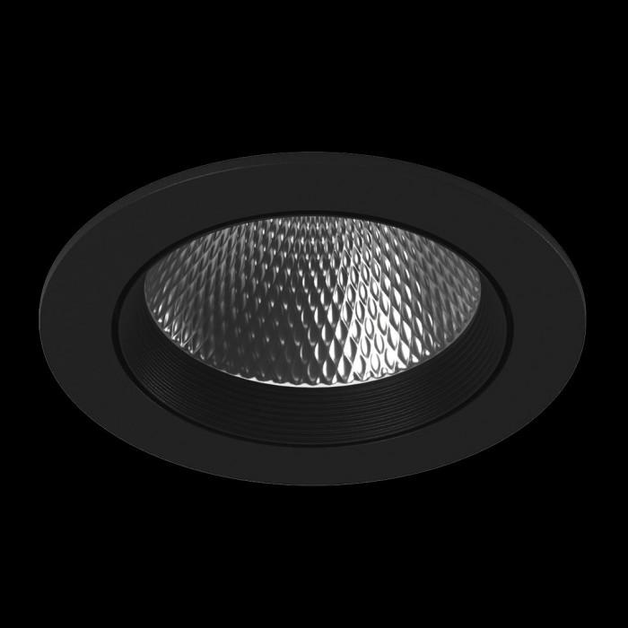 1Светильник светодиодный потолочный встраиваемый наклонный, серия DL-KZ, черный, 18Вт, IP20, Теплый белый (3000К)