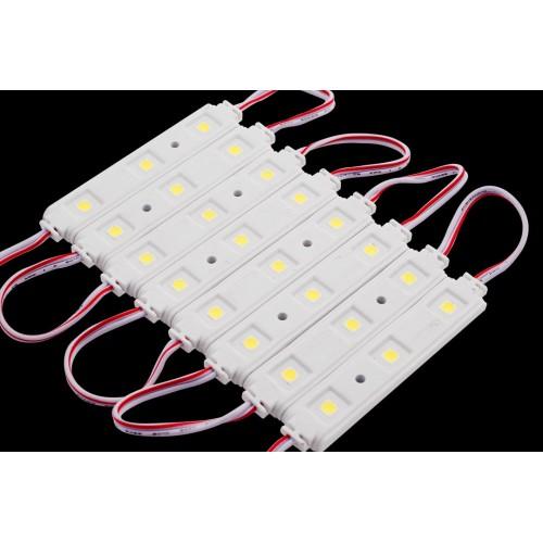 Модуль светодиодый SWG, 3LED, 0,72Вт, 12В, IP65, Цвет: 6000-6500 К Холодный белый, провод 9см