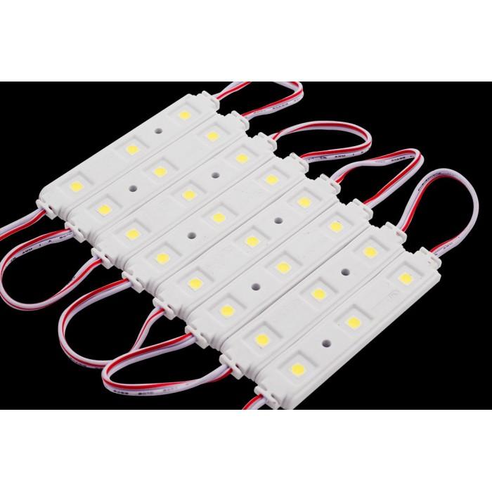 1Модуль светодиодый SWG, 3LED, 0,72Вт, 12В, IP65, Цвет: 6000-6500 К Холодный белый, провод 9см