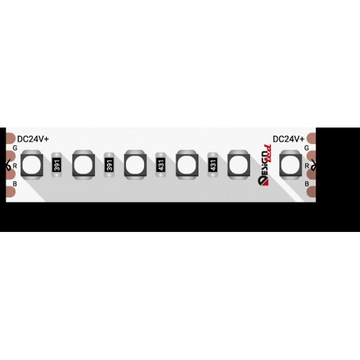 1Лента светодиодная LUX, 3535, 120 LED/м, 20 Вт/м, 24В, IP33, RGB (K)