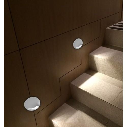 002397 Бра встраиваемое для подсветки лестницы/пола COIN-3, белый, 3Вт, 3000K, IP20, GW-812-1-3-WH-WW DesignLed
