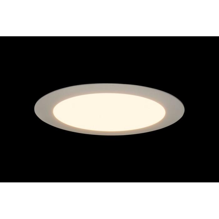 2Светильник светодиодный потолочный встраиваемый PL, Белый, Пластик + алюминий, Теплый белый (2700-3000K), 12Вт, IP20